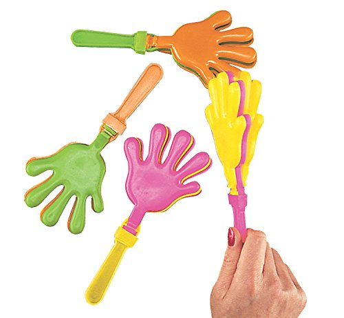 Plastic Noisemakers (Plastic Hand Clappers, pack of 12)