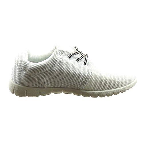 Sopily - damen Mode Schuhe Sneaker - Weiß