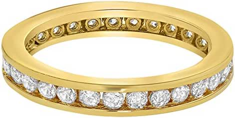18k Gold Plated Baby Ring Girl Eternity Band Clear Girls SZ 1