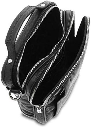 Giudi - Bolso de hombre de piel de becerro, bandolera para hombre, piel auténtica, fabricado en Italia., Negro (Negro) - 10328/LN/AE/COL Negro bwPJC8qH