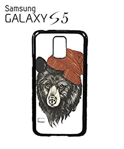 Bear with Beanie Mobile Cell Phone Case Samsung Galaxy S5 Black