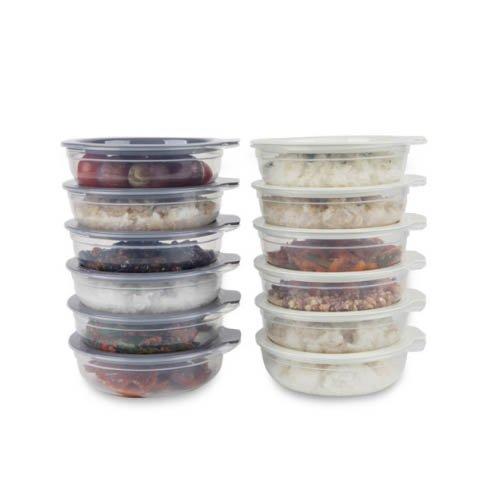 Easy-COOK - Juego de 24 recipientes para microondas y frutas