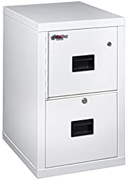 FireKing 2R1822CAWSF Turtle Two-Drawer File 17 3/4w x 22 1/8d UL Listed 350° for Fire Artic White