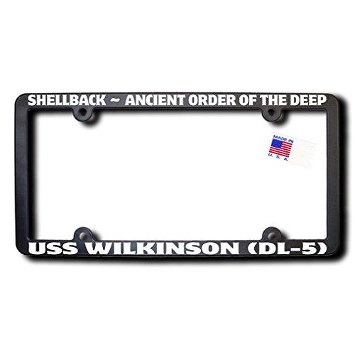 Shellback USS WILKINSON (DL-5) License Frame w/Reflective - Frames Wilkinsons