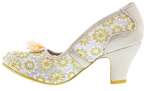 Irregular Choice Palm Cove Cream Lace Damen Absatze Court Schuh