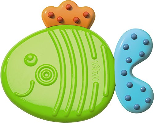 HABA Clutching Toy Fish Silicone Teether (Teether Plastic)