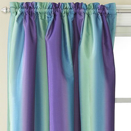 Amazon Rainbow Ombre Faux Silk Curtain Panel Home Kitchen