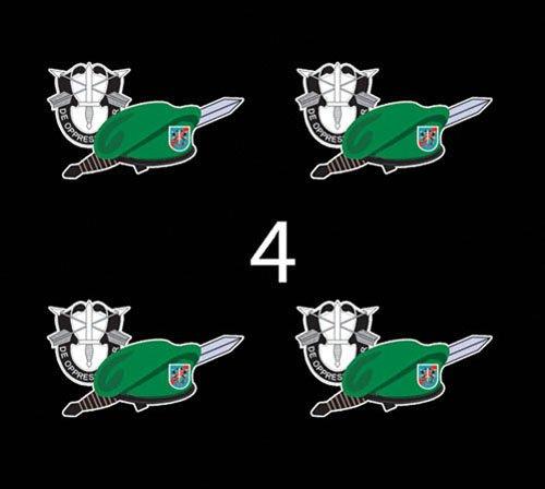 "US Army Emblem 20th SFg DUI Beret Dagger 3"" (4)Four Decal Sticker Lot"