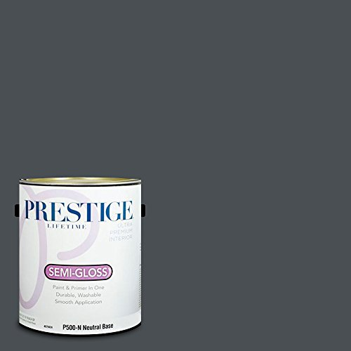 (Prestige Paints Interior Paint and Primer In One, 1-Gallon, Semi-Gloss,  Comparable Match of Benjamin Moore Midnight Blue)