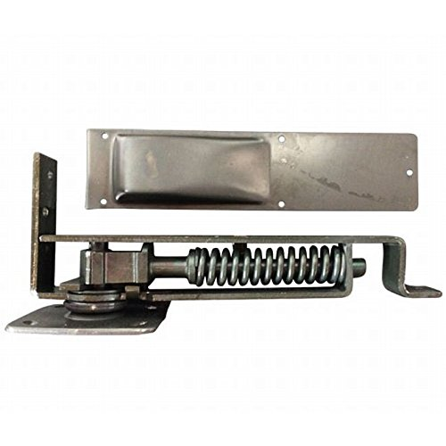 Bommer 7800 Series Cast Steel Horizontal Type Light Duty Spring Pivot with Floor Plate, Steel Side Plate, 1.37
