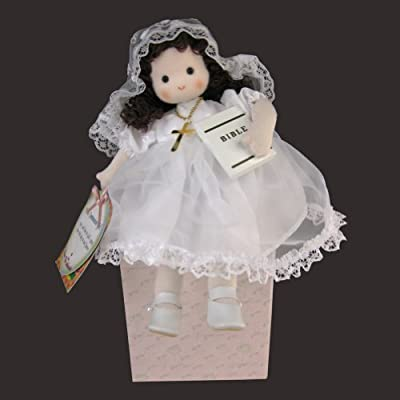Green Tree Products First Communion Brunette Musical Doll: Toys & Games