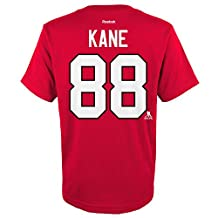 Patrick Kane Chicago Blackhawks NHL YOUTH Red Reebok Eligible Name & Number T-Shirt
