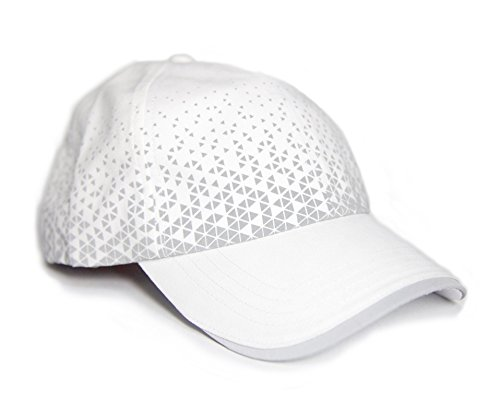 MUN Gear White Reflective Running Hat Triangle Women Men Adult Athletic by MUN Gear