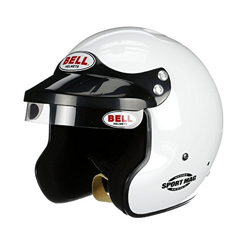 Bell Racing Mens Half Helmets Helmet (Sport Mag SA15) (White, X-Large) by Bell Racing (Image #1)