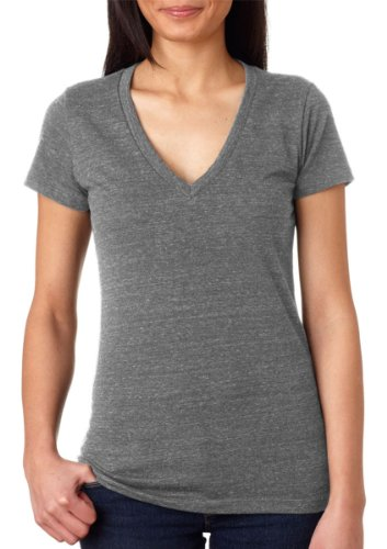 Bella B8435 TriBlend Deep Vee Tee - Grey Heather - ()