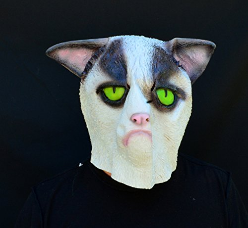 Acid Tactical Halloween Comicon Mask Latex 2018 Costume Mask Kitty Grumpy Cat (Grumpy Cat Halloween Mask)