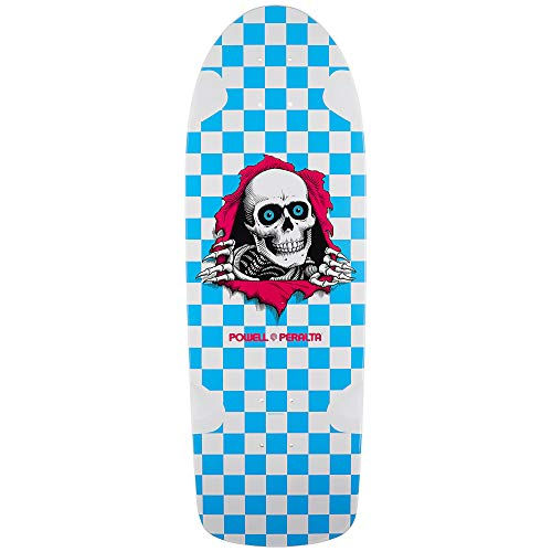 (Powell-Peralta Skateboard Deck OG Ripper Checker Blue Re-Issue Old School)