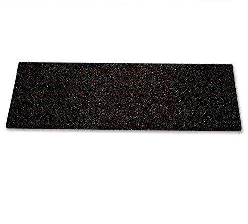 階段用滑り止めカバー 独特な表面構造 基材:FRP 表面:シリコンカーバイド made in USA 防水防油 耐紫外線と耐薬性 (609x150x25mm(24x6x1インチ), 黒) B07B9WG8YD 609x150x25mm(24x6x1インチ)|黒 黒 609x150x25mm(24x6x1インチ)