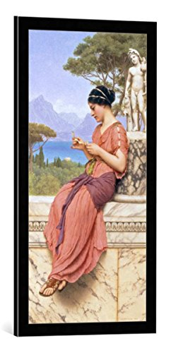 - kunst für alle Framed Art Print: John William Godward Billet Doux - Decorative Fine Art Poster, Picture with Frame, 16x33 inch, Black/Edge Grey