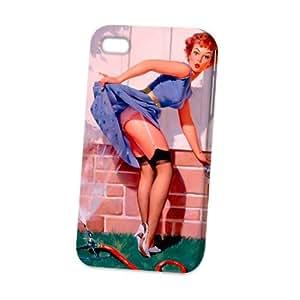 Case Fun Apple iPhone 4 / 4S Case - Vogue Version - 3D Full Wrap - A Near Miss Pin Up Girl