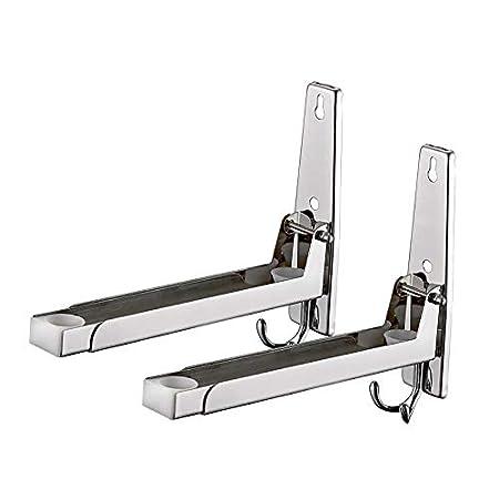 Homwel 304 Soporte de acero inoxidable para microondas para ...