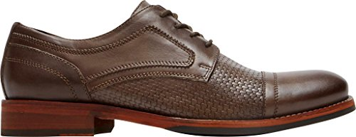 Rockport Wyat Cap Teen Mens Oxford Coffee Leather