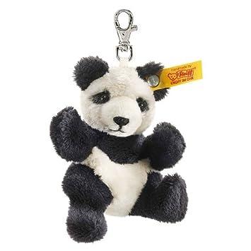 Steiff 112102 - Llavero de panda de peluche, color blanco y negro