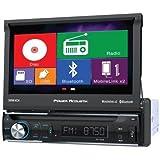 """Power Acoustik PD72H2B Single Din AM/FM/DVD/BT flip out 7"""" mobile link X2"""