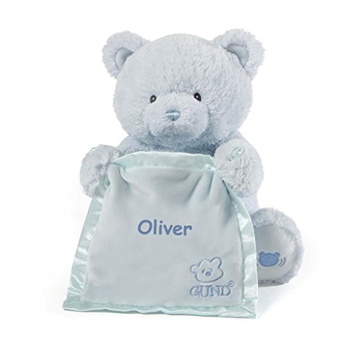 Personalized Peek A Boo Plush Toy (Peek A Boo Bear - Blue)