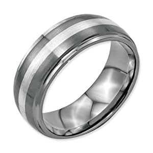 chisel stainless steel sterling silver inlay