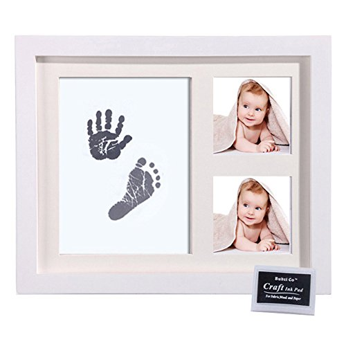 Baby Handprint Footprint Photo Frame Kit Infant Hand Foot Touch Print Ink Pads for Newborn Room Wall or Nursery Decor