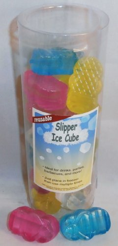 Slipper Reusable Ice Cubes 18 ct Assorted Colors