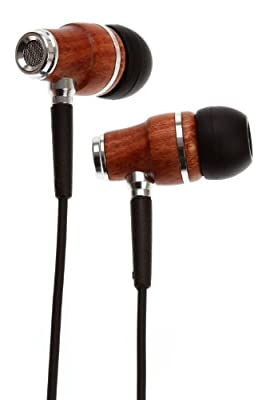 Symphonized NRG Premium Genuine Wood In-ear Noise-isolating Headphones with Mic (Black)
