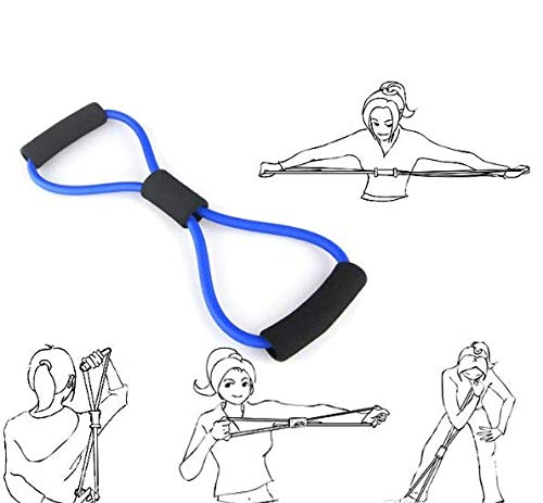 RITEN   8 Shape Tube Resistance Band Fitness Muscle Workout Exercise Yoga Elastic Cord