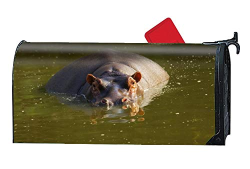 MAILL Animal Hippo Magnetic Mailbox Covers, Yard Decorations