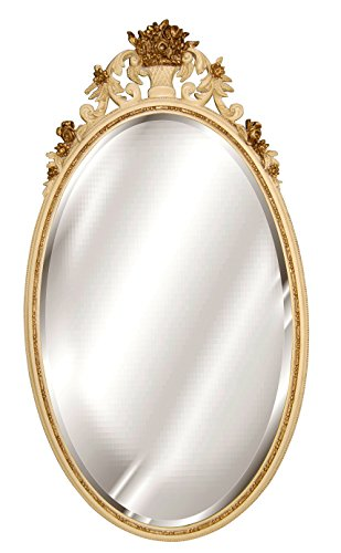 Hickory Manor House 5080IVG Oval Flower Basket Mirror/Ivory Gold