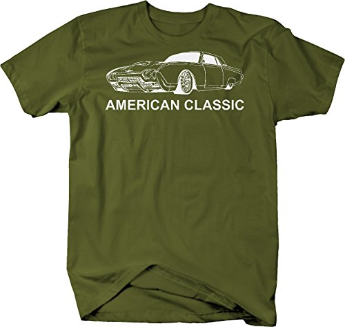 American Classic Ford Thunderbird T-Bird Vintage Car Tshirt - Large (Car Thunder Classic)