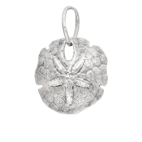 Authentic Novobeads Sterling Silver 1255 Sand Dollar Charm, Silver