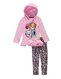 """Paw Patrol Little Girls' """"Girl Pup Power!"""" 2-Piece Outfit"""