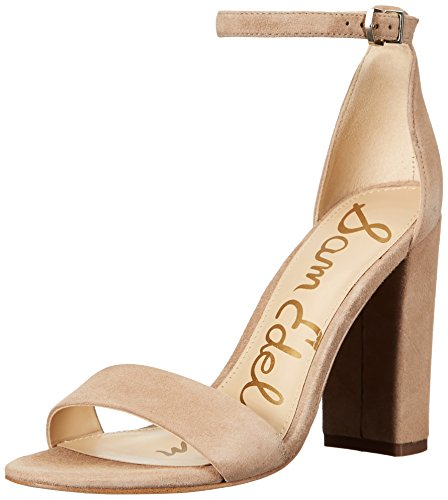 Sam Edelman Women's Yaro Dress Sandal, Oatmeal Suede, 7 M ()