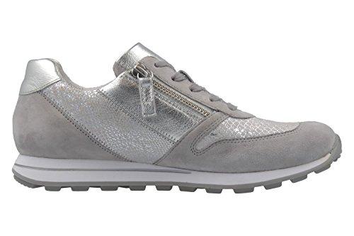Gabor  66.365.87, Chaussures de ville à lacets pour femme gris gris