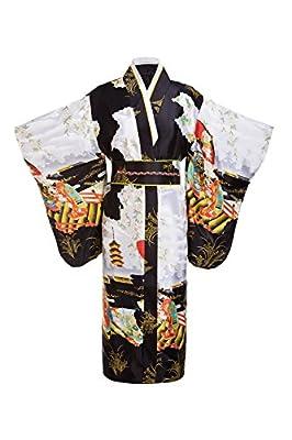 Old-to-new Women's Silk Traditional Japanese Kimono Robe/Bathrobe/Party Robe