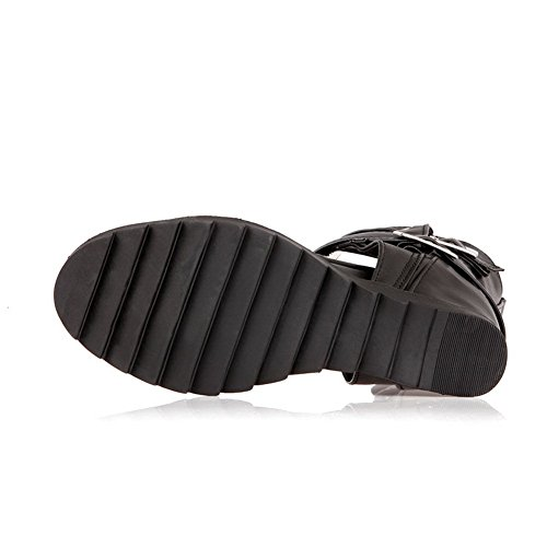 Adee Girls Heighten Inside Open-Toe Polyurethane Sandals Black mN5XWi