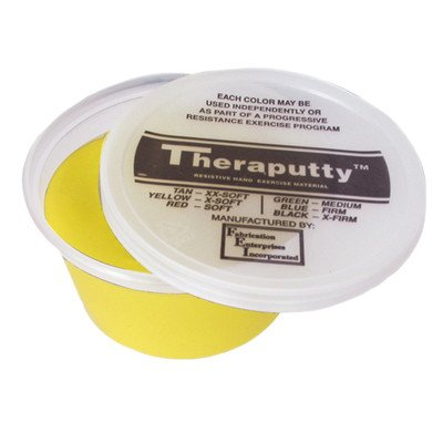 Antimicrobial Theraputty Exercise Material [Set of 5] Resistance/Color: Extra Soft/Yellow, Size: 1lb. by Cando