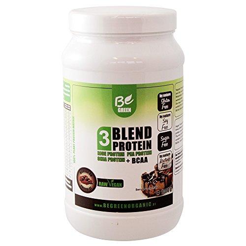BeGreen Blend Vegan Protein - Erbsenprotein, Reisprotein und Chiaprotein - Be Green - 1000g (Mousse au Chocolat)