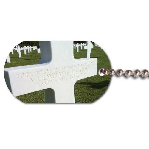 World War II Normandy Omaha Beach Dog Tag - Unknown Soldier Gravesite