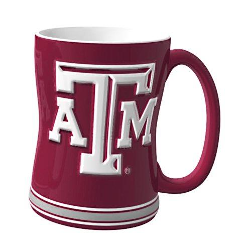 NCAA Texas A&M Aggies Sculpted Relief Mug, 14-Ounce (Aggies A&m Coffee Texas)