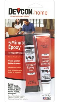 ITW Devcon S205 5-Minute Epoxy Glue 1-Ounce Tube ()