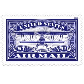 USPS Forever Stamp: Air Mail Blue (Blue, 1 Sheet (20 Stamps)) by USPS (Image #1)