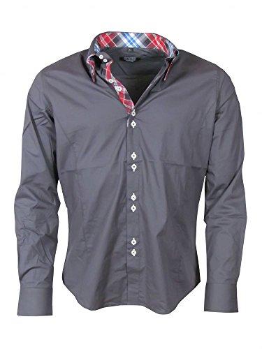 Hemd - Double Style - dunkelgrau
